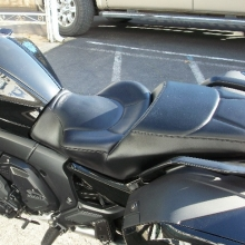 BMW K1600B: Day-Long Solo, all Black Leather with Halfmoon pattern