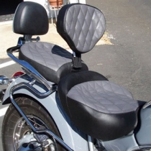 BMW R1200C: Day-Long Solo Gray Inserts with Black Sides | Small Diamonds