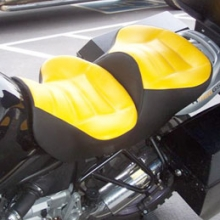 BMW R1150 GSA: Day-Long Dual Yellow Inserts with Black Sides | Rectangle Pattern