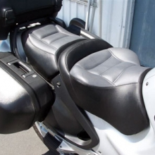BMW R1150RT: Day-Long Solo Gray Inserts with Black Sides | Rectangles
