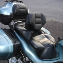 BMW K1200GT: Day-Long Dual Gray Inserts with Black Sides | Half-moon