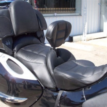 BMW K1200LT: Solo All Leather, Rectangle Pattern With RCP Removable Backrest