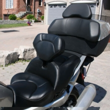 Black Vinyl Half Moon Pattern | Dual Day-Long with RCP Backrest