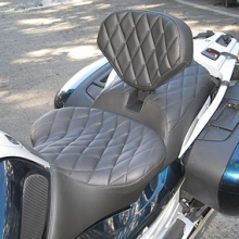 Solo all Whisper Black vinyl small diamond pattern with RCP built-in drivers backrest