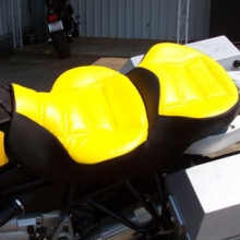 BMW R1150GSA: Dual Day-Long Two-Tone Saddle | Yellow & Black