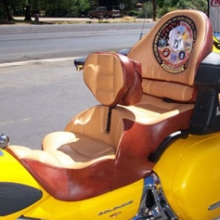 Honda GL 1800: Dual Custom Colors With Our Backrest