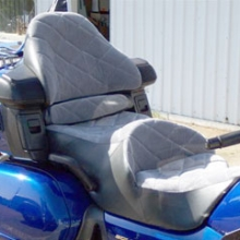 Honda GL 1800: Dual Velour Iinserts with Large Diamonds