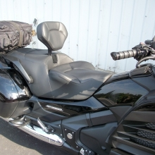 Honda F6B Solo all Black Leather with Halfmoon pattern
