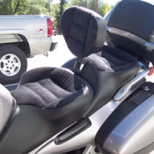 Honda ST 1300: Dual Black Velour Inserts with RCP Backrest