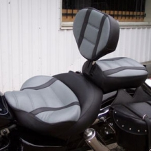 Honda Shadow: Backrest Black & Gray With Stripes