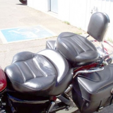 Honda Shadow: Dual Black Vinyl with Rectangles