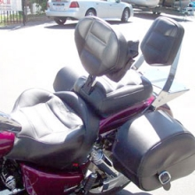Honda VTX 1800(N): Solo All Leather Rectangles With Our Backrest