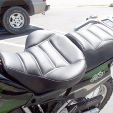 Kawasaki KLR: Day-Long Solo, All Vinyl Rectangle Pattern
