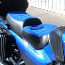 Kawasaki Concours Solo Pacific Blue Sunbrella inserts with Rectangle pattern