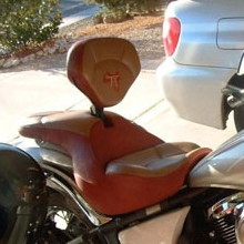 Kawasaki Vulcan: Solo RCP Backrest Leather Insert Vinyl Sides
