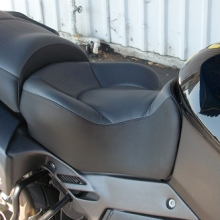 Aprilia Caponord Solo Graphite Leather insert with Black Leather side and Halfmoon pattern