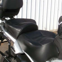 Moto Guzzi Stelvio: Dual Day-Long | Leather Insert with Vinyl Ssides | Rectangle Pattern