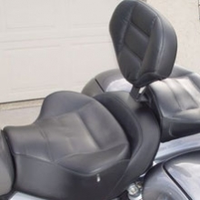 Triumph Rocket: Dual Leather Insert, Vinyl Side With Our Drivers Backrest