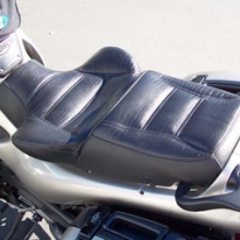 Triumph Trophy: Solo Black Leather Inset, Vinyl Side