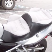 Suzuki Bandit: Dual Light Gray Leather Insert With Vinyl Side
