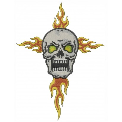 Angry Skull Flames