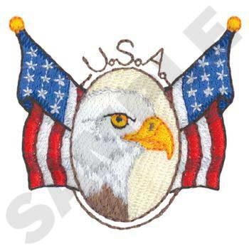 Eagle W/ Flags