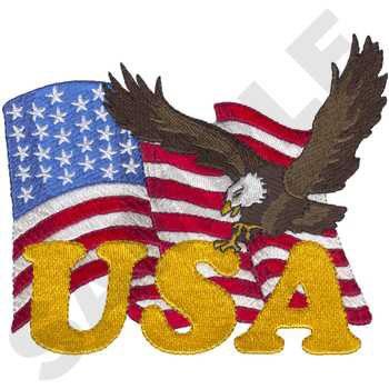 Flag W/Eagle