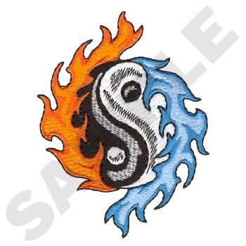 Flaming Yin Yang